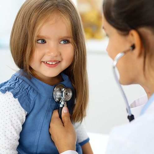 doctor-examining-a-little-girl-by-stethoscope_rogerphoto_adobestock_145299912